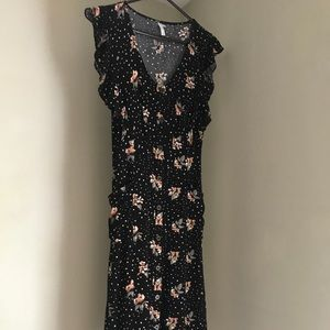 Never worn black floral dress